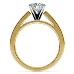 Princess Channel Diamond Engagement Ring in Yellow Gold (1/2 ctw) | Thumbnail 02