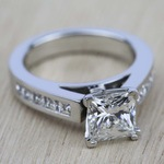 Princess Channel Diamond Engagement Ring in White Gold (1/2 ctw) | Thumbnail 05