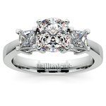Princess Diamond Engagement Ring in White Gold (1/2 ctw) | Thumbnail 01