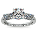 Round Five-Diamond Engagement Ring in White Gold (1/2 ctw) | Thumbnail 01