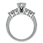 Round Five-Diamond Engagement Ring in White Gold (1/2 ctw) | Thumbnail 02