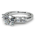 Round Five-Diamond Engagement Ring in White Gold (1/2 ctw) | Thumbnail 04
