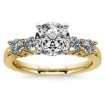 Round Five-Diamond Engagement Ring in Yellow Gold (1/2 ctw) | Thumbnail 01