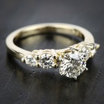 Round Five-Diamond Engagement Ring in Yellow Gold (1/2 ctw) | Thumbnail 05