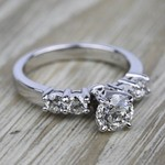 Round Five-Diamond Engagement Ring in White Gold (1/2 ctw) | Thumbnail 05