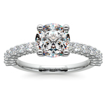 Shared Prong Diamond Engagement Ring in White Gold (1/2 ctw) | Thumbnail 01