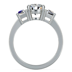 Trapezoid Diamond Engagement Ring in Platinum (1/2 ctw) | Thumbnail 02