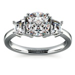 Trapezoid Diamond Engagement Ring in White Gold (1/2 ctw) | Thumbnail 01