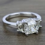 Trapezoid Diamond Engagement Ring in Platinum (1/2 ctw) | Thumbnail 05