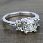 Trapezoid Diamond Engagement Ring in White Gold (1/2 ctw) | Thumbnail 05