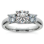 Trellis Three Diamond Engagement Ring in White Gold (1/2 ctw) | Thumbnail 01