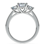 Trellis Three Diamond Engagement Ring in White Gold (1/2 ctw) | Thumbnail 02