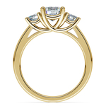 Trellis Three Diamond Engagement Ring in Yellow Gold (1/2 ctw) | Thumbnail 02