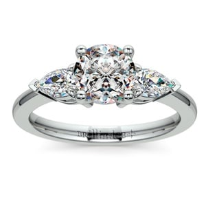 Pear Diamond Engagement Ring in White Gold (1/2 ctw)