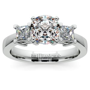 Princess Diamond Engagement Ring in White Gold (1/2 ctw)