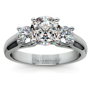 Round Diamond Engagement Ring in Platinum (1/2 ctw)