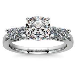 Round Five-Diamond Engagement Ring in Platinum (1/2 ctw)