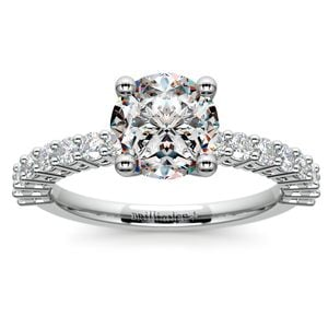 Shared Prong Diamond Engagement Ring in Platinum (1/2 ctw)