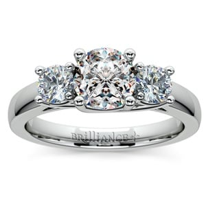 Trellis Three Diamond Engagement Ring in Platinum (1/2 ctw)