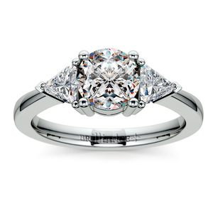 Trillion Diamond Engagement Ring in Platinum (1/2 ctw)