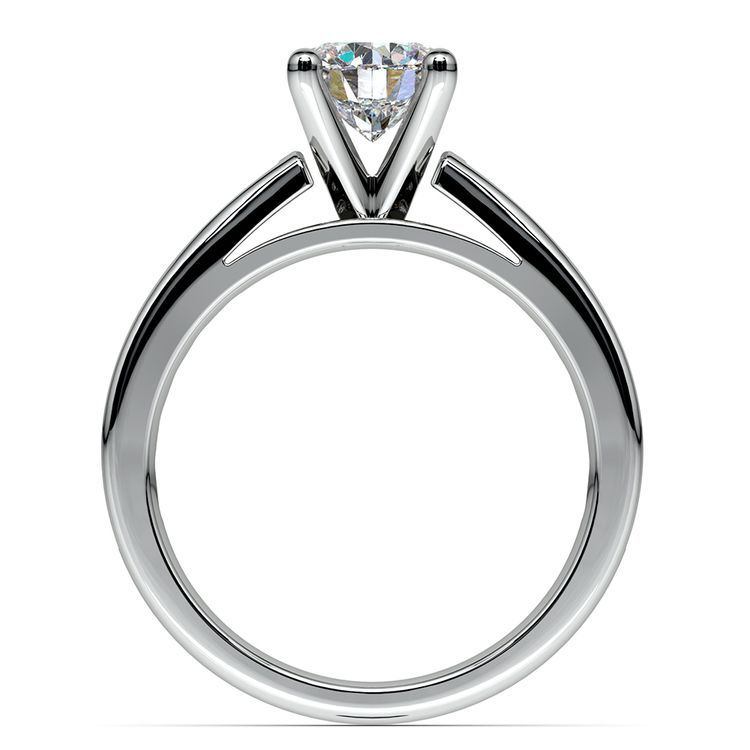 Channel Cathedral Diamond Engagement Ring in White Gold (1/2 ctw) | 02