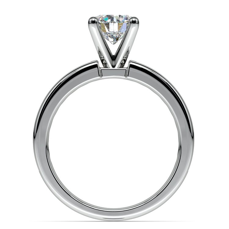 Channel Diamond Engagement Ring in White Gold (1/2 ctw) | 02