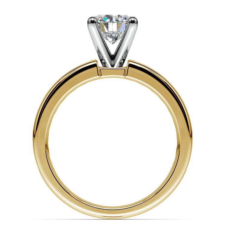 Channel Diamond Engagement Ring in Yellow Gold (1/2 ctw)   02