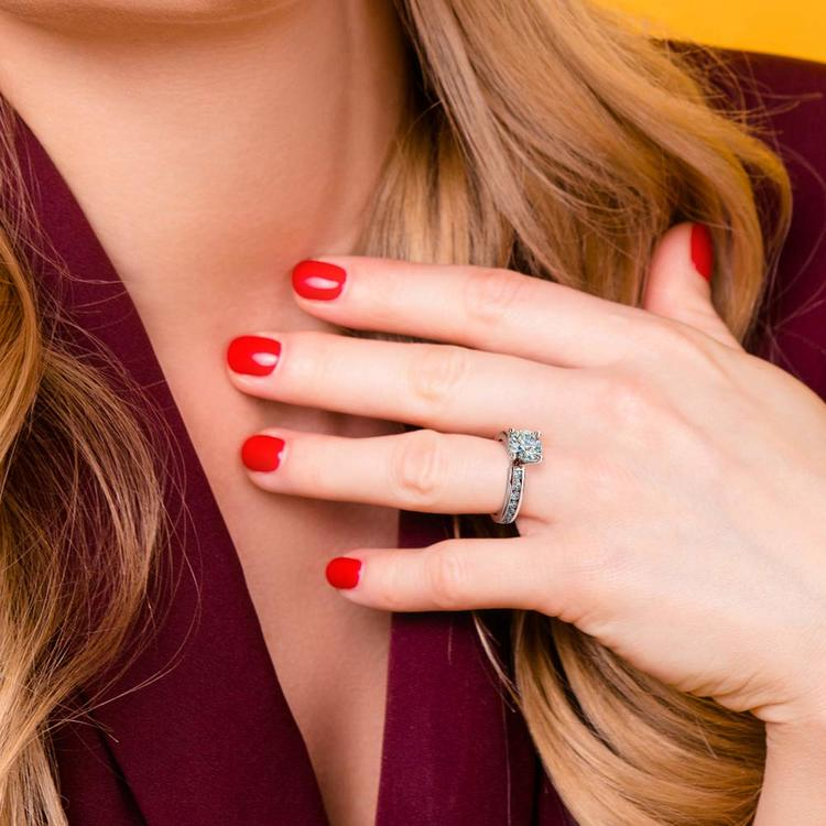 Princess Channel Diamond Engagement Ring in Platinum (1/2 ctw) | 07