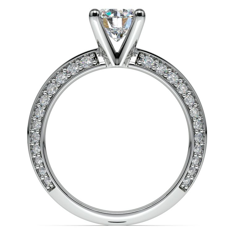 Knife Edge Diamond Engagement Ring in White Gold (1/2 ctw) | 02
