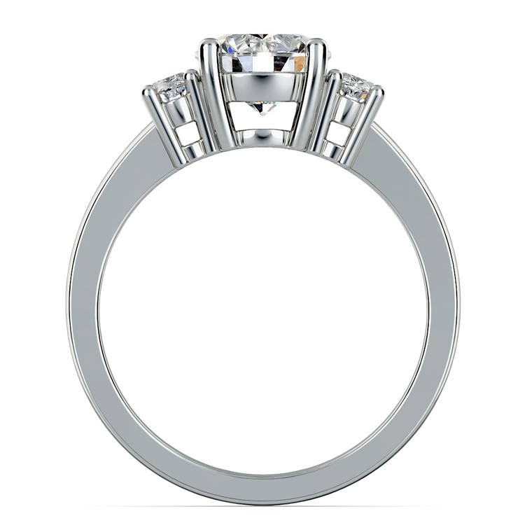 Oval Diamond Engagement Ring in White Gold (1/2 ctw) | 02