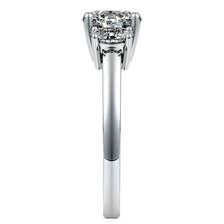 Oval Diamond Engagement Ring in White Gold (1/2 ctw) | 03