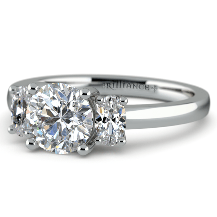 Oval Diamond Engagement Ring in White Gold (1/2 ctw) | 04