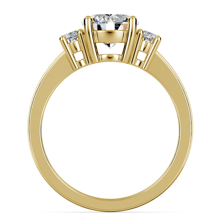 Oval Diamond Engagement Ring in Yellow Gold (1/2 ctw) | 02