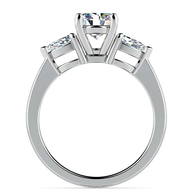 Pear Diamond Engagement Ring in White Gold (1/2 ctw) | 02