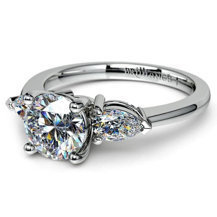 Pear Diamond Engagement Ring in White Gold (1/2 ctw) | 04