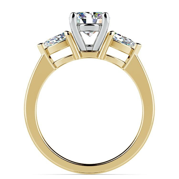 Pear Diamond Engagement Ring in Yellow Gold (1/2 ctw) | 02