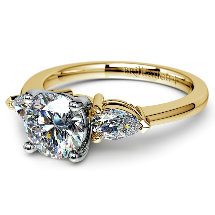 Pear Diamond Engagement Ring in Yellow Gold (1/2 ctw) | 04