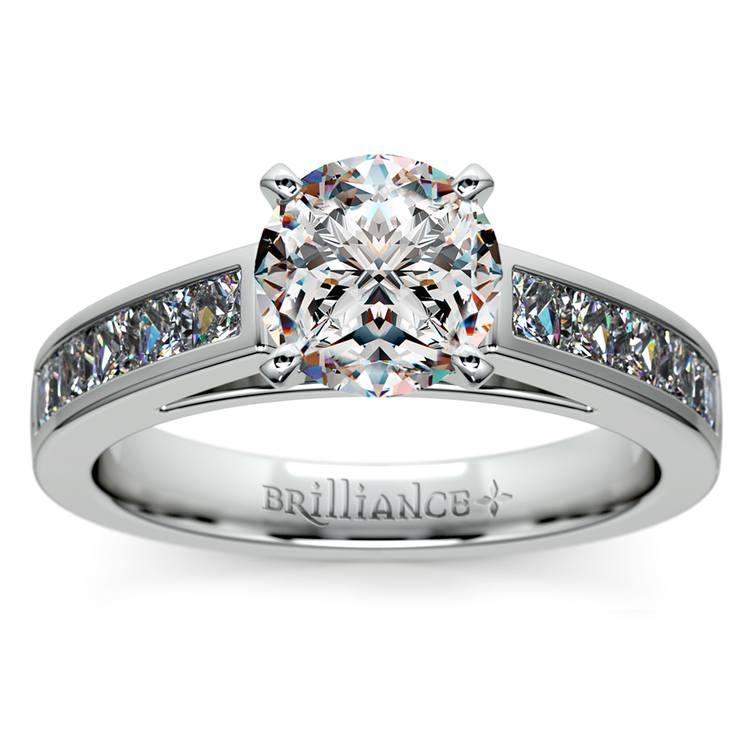Princess Channel Diamond Engagement Ring in Platinum (1/2 ctw) | 01