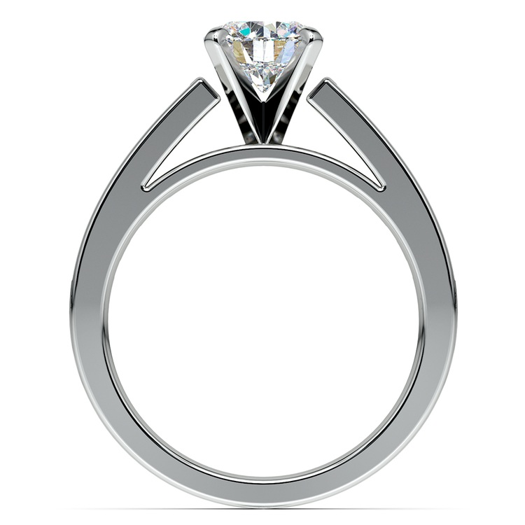 Princess Channel Diamond Engagement Ring in White Gold (1/2 ctw) | 02