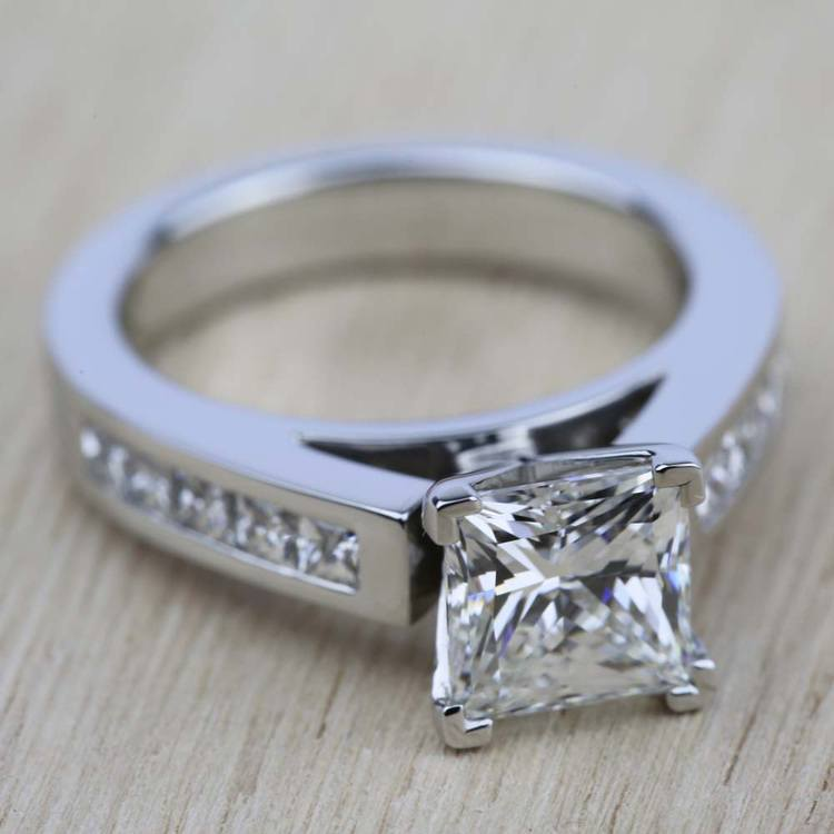 Princess Channel Diamond Engagement Ring in Platinum (1/2 ctw) | 05