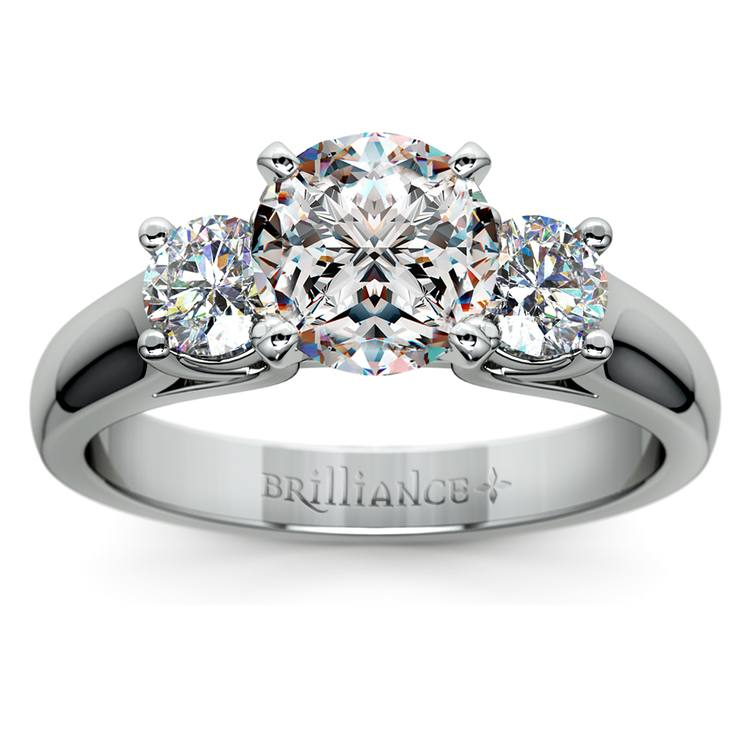 Round Diamond Engagement Ring in White Gold (1/2 ctw) | 01