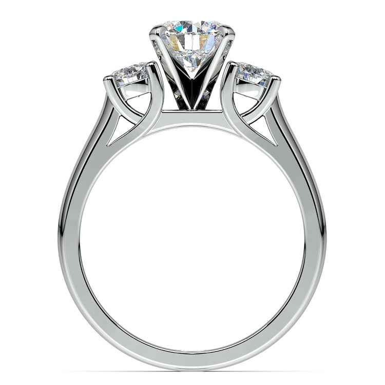 Round Diamond Engagement Ring in White Gold (1/2 ctw) | 02