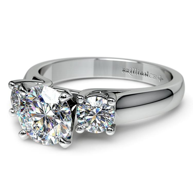 Round Diamond Engagement Ring in White Gold (1/2 ctw) | 04