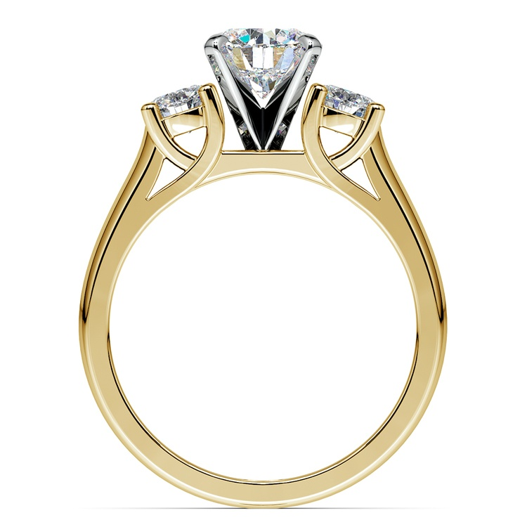 Round Diamond Engagement Ring in Yellow Gold (1/2 ctw) | 02