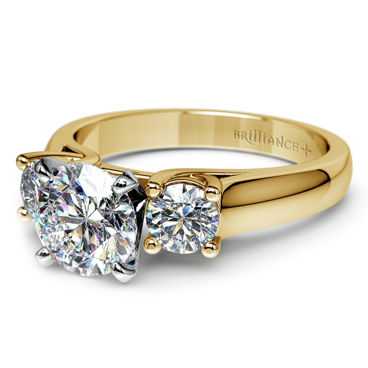 Round Diamond Engagement Ring in Yellow Gold (1/2 ctw) | 04