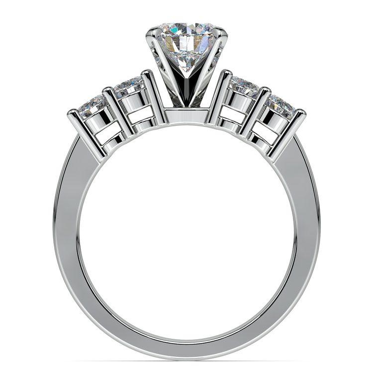Round Five-Diamond Engagement Ring in Platinum (1/2 ctw)   02