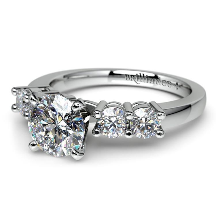 Round Five-Diamond Engagement Ring in Platinum (1/2 ctw)   04