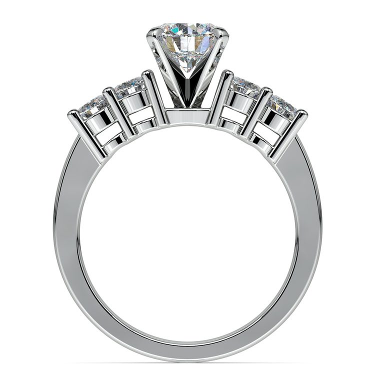 Round Five-Diamond Engagement Ring in White Gold (1/2 ctw) | 02