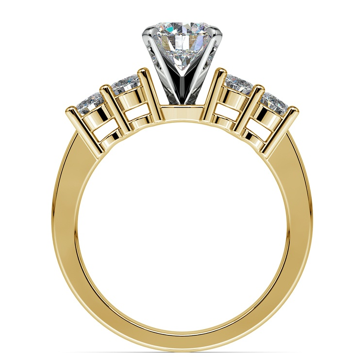 Round Five-Diamond Engagement Ring in Yellow Gold (1/2 ctw) | 02