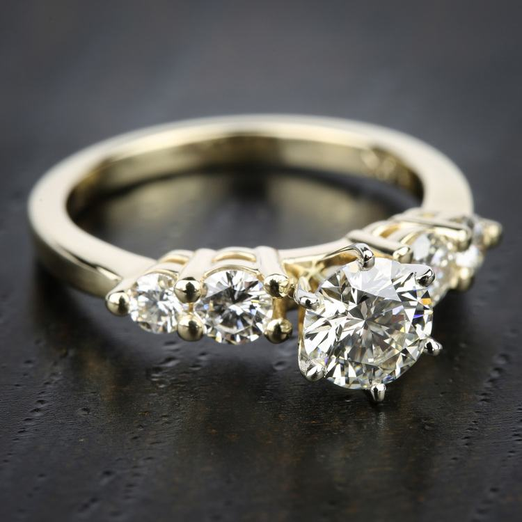 Round Five-Diamond Engagement Ring in Yellow Gold (1/2 ctw) | 05